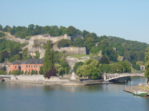 The spectacular location of the citadelle de Namur, a XVIIth century fortress
