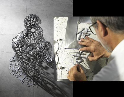 Jaume Plensa, inside his work forRuinart